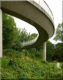 SK4641 : Spiral footbridge, Ilkeston by Alan Murray-Rust