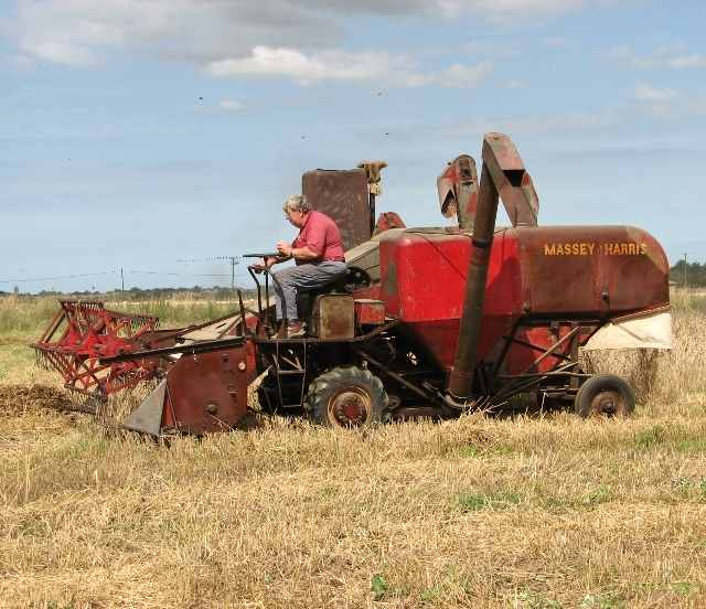 Harvesting in bygone days - a Massey-Harris combine