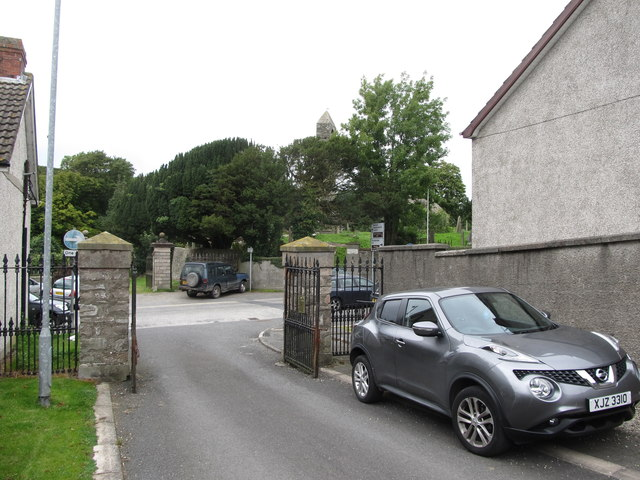 Templecranny Graveyard from the drive of Ballyphilip CoI Parish Church