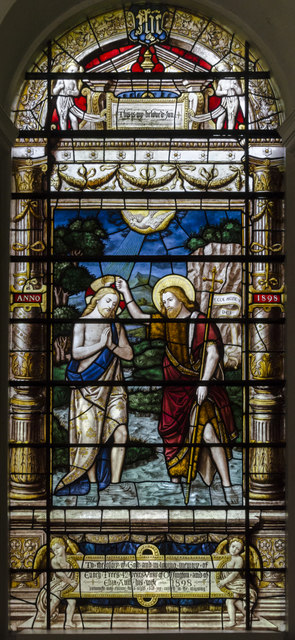 Stained glass window, Holy Rood church, Ossington
