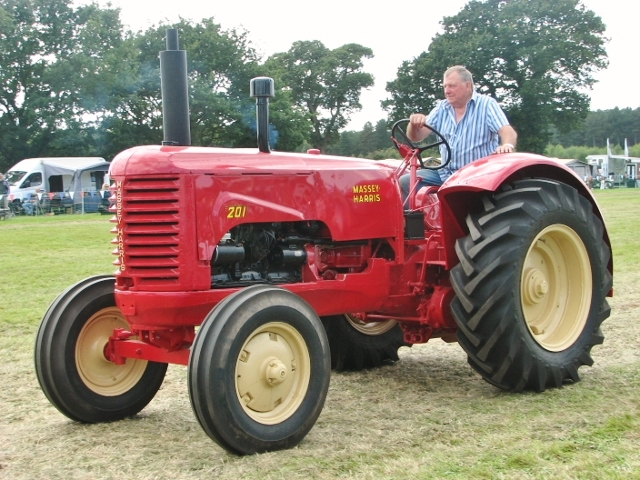 Massey-Harris 201 tractor in the parade ring