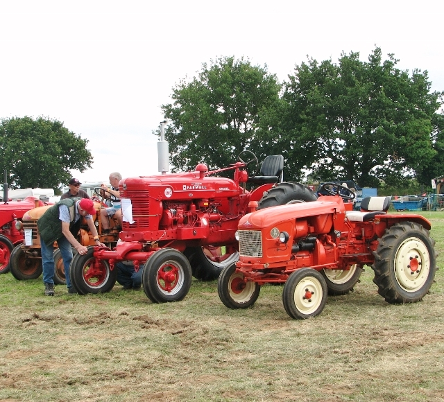 Vintage tractors in the parade ring