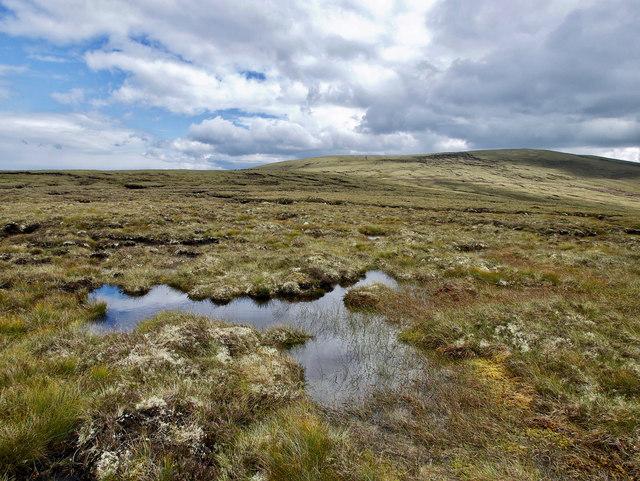 Wet hillside of Cnoc Leathad na Siorramachd