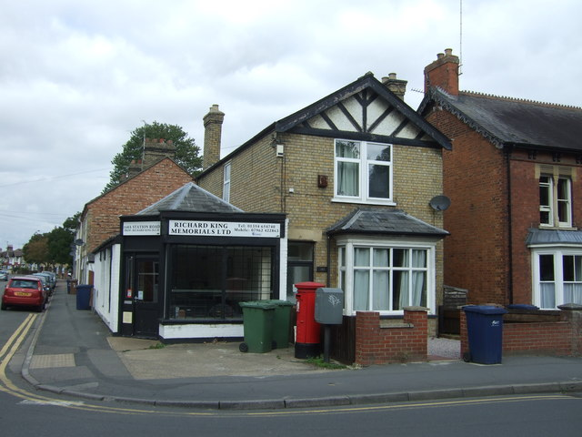 Shop and house on Station Road, March