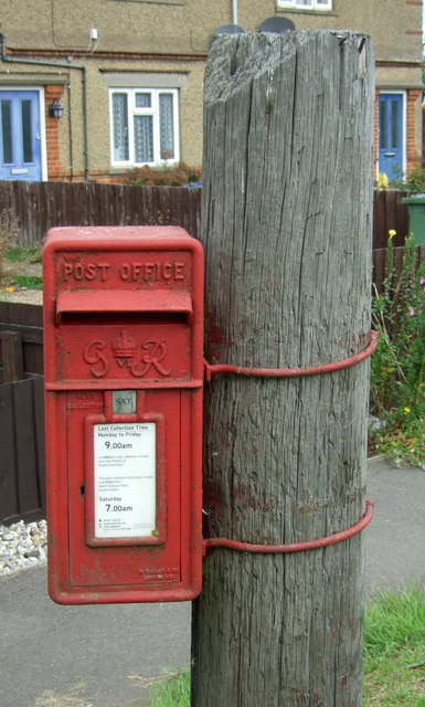 George VI postbox on Wimblington Road, March