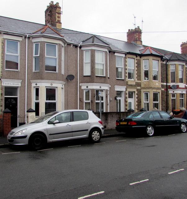 Three named houses, London Street, Newport