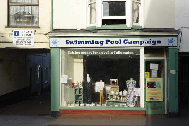 Charity shop - Cullompton