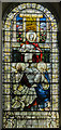 SK7565 : Stained glass window. Holy Rood Church, Ossington by Julian P Guffogg