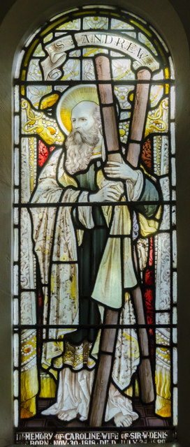 Stained glass window, Church of the Holy Rood, Ossington
