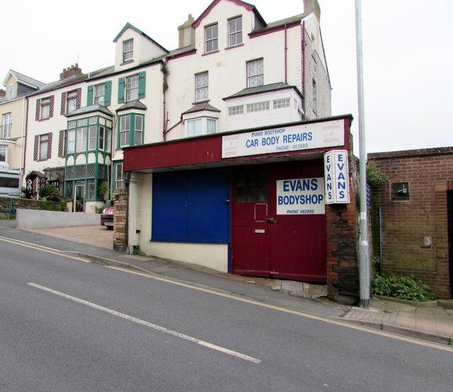 Evans Bodyshop, Northfield Road, Ilfracombe