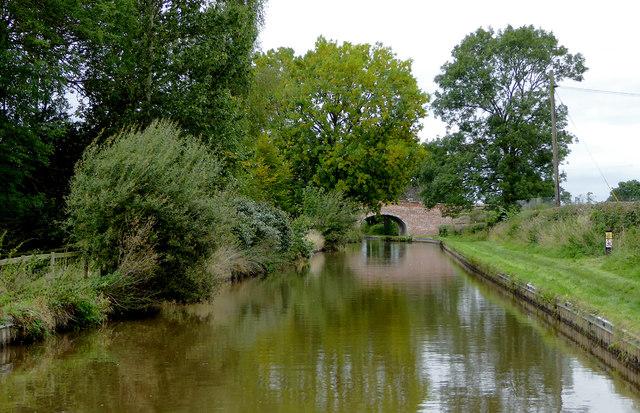 Llangollen Canal near Burland in Cheshire