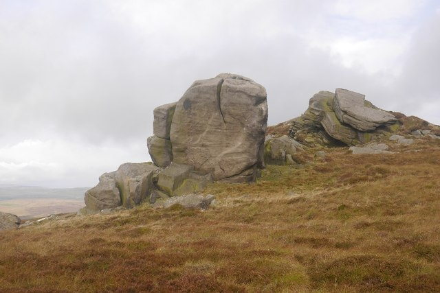 Gritstone outcrops, Cracoe Fell