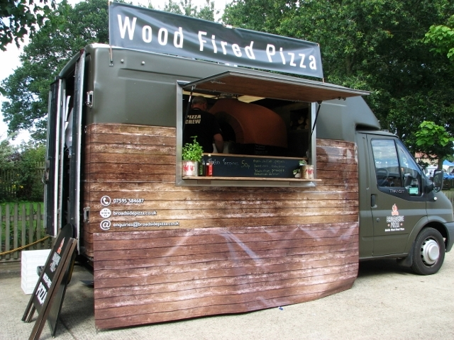 Wood Fired Pizza fresh from the van