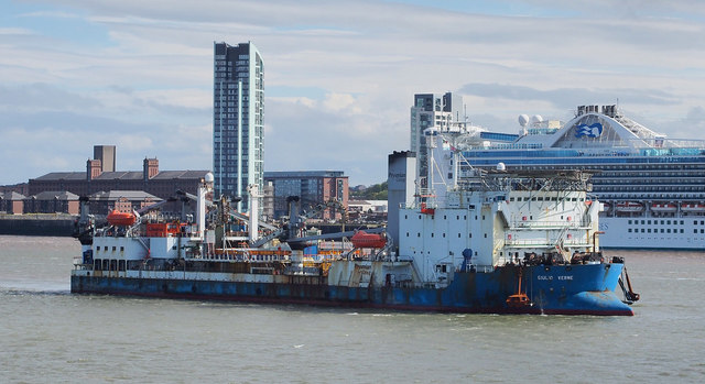 The 'Giulio Verne' on the River Mersey