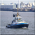 SJ3290 : Tug 'Smit Sandon' on the River Mersey by Rossographer