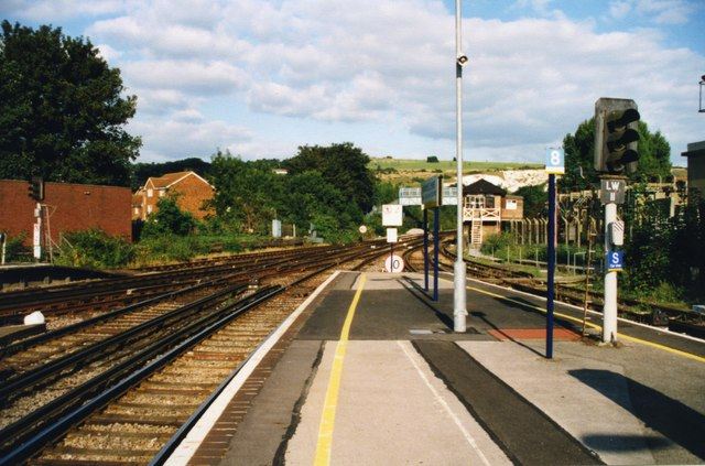 Eastward from Lewes station, 2000