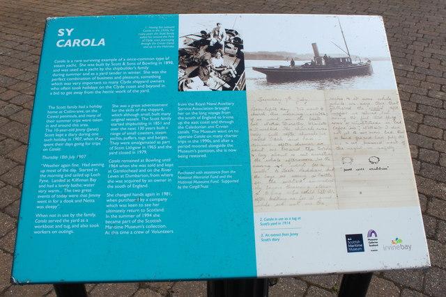 History of the SY Carola