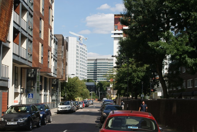 View along Byng Street from Westferry Road
