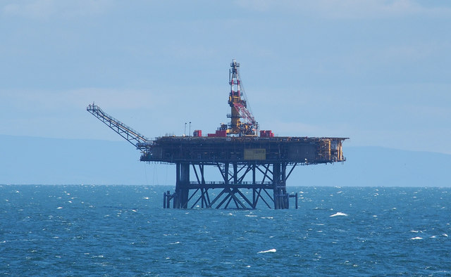 Offshore gas platform, Morcambe Bay