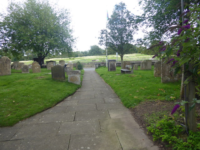 View to Ermine Street from St Martin's Churchyard, Ancaster