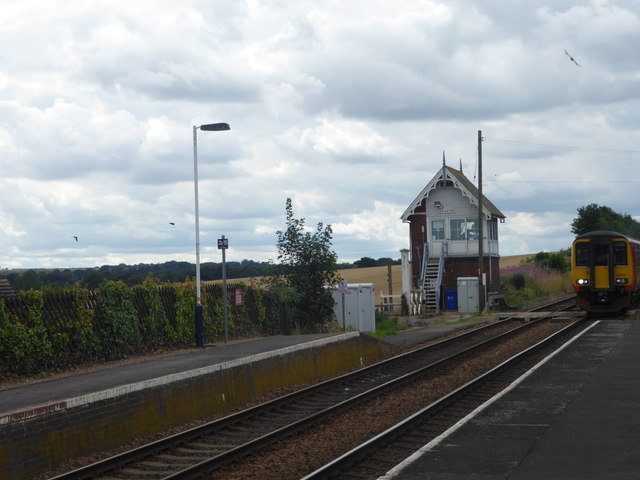 The signal box at Ancaster station