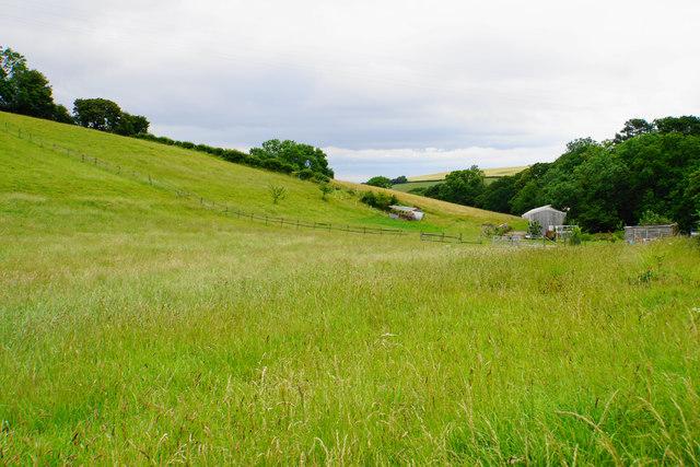 Fields below Lower Pardlestone Farm
