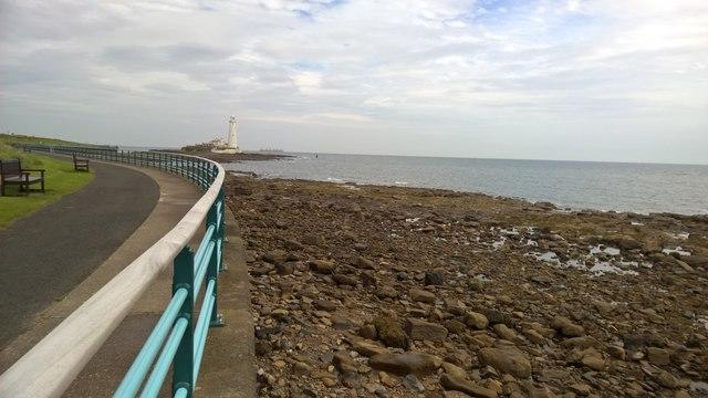 Coastline looking towards St Mary's Lighthouse