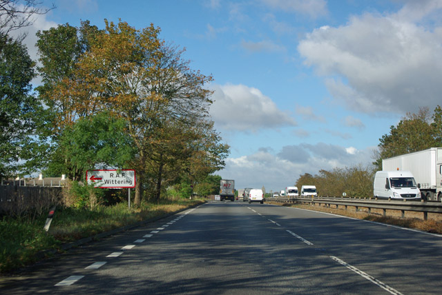 A1 northbound, Wittering