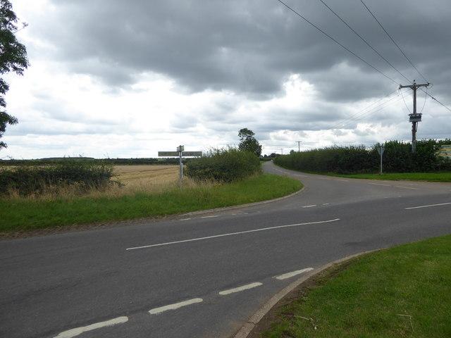 Stormy crossroads on Caythorpe Heath