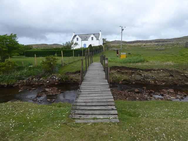 Footbridge over Allt Sanna