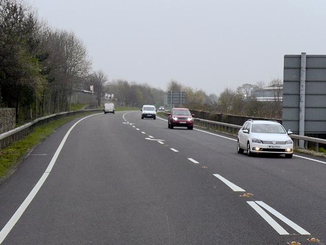 A483 Leaving Welshpool