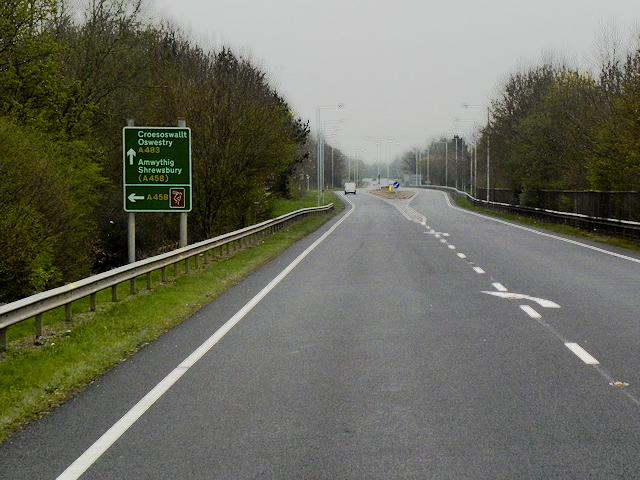 A483 near Welshpool