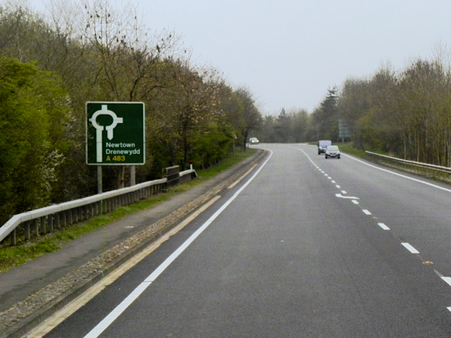 A483 north of Welshpool