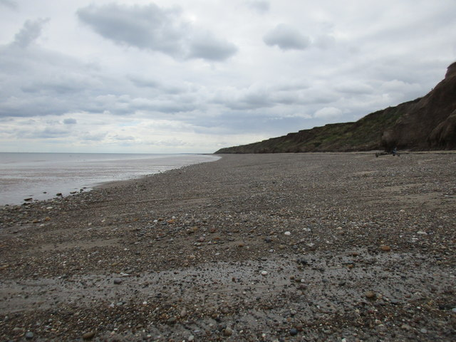 Hornsea North Cliff and beach