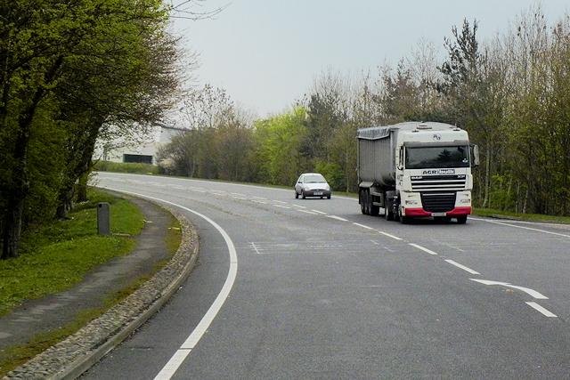 HGV on the A483 near to Buttington