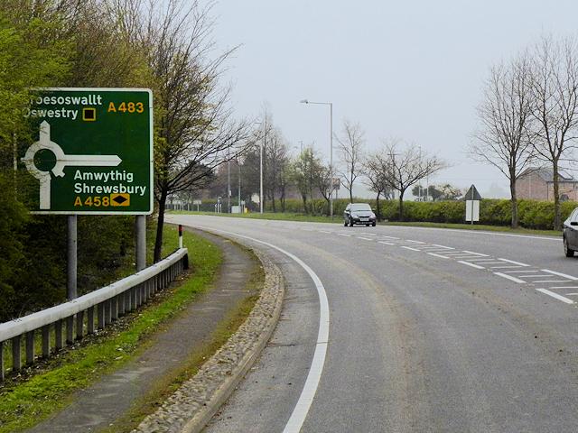 A483 near Buttington