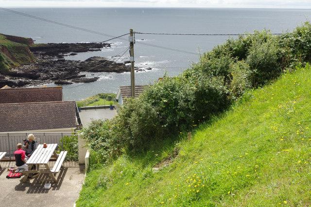 View from the Eddystone Inn, Heybrook Bay