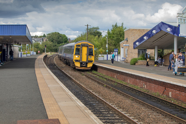 A Class 158 Diesel Multiple Unit Train at Kirkcaldy, Fife, Scotland