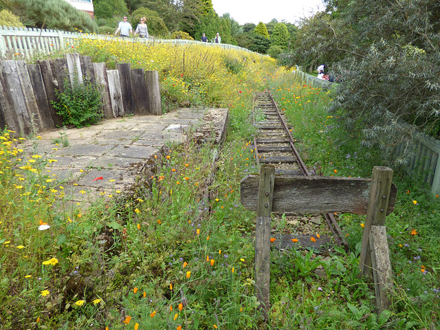 Recreated railway track, Golden Acre Park