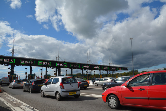 Monmouthshire : The M4 Toll Booth