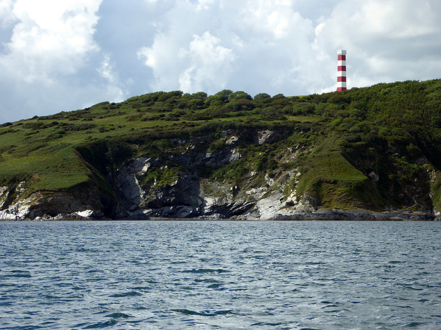 Cliffs on Gribbin Head