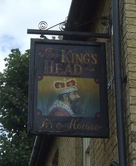 Sign for the Kings Head, Wilburton