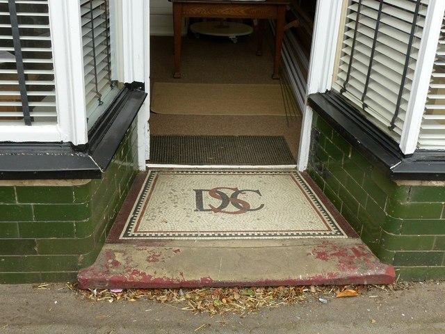 DCS mosaic, shop on Flood Street, Ockbrook