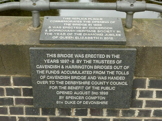 Commemorative plaques, Borrowash Bridge