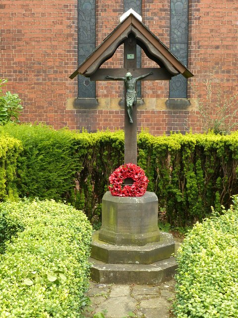 World War 1 memorial, St Stephen's Church, Borrowash