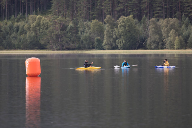 First buoy and safety crew for the Aviemore Triathlon