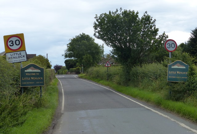 Lane on the northern edge of Little Wenlock