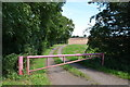 SK7364 : Gated entrance to Farm track by Julian P Guffogg