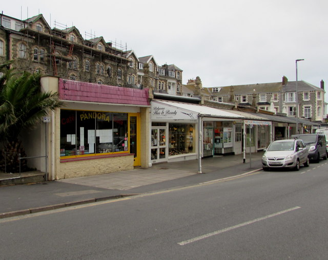 Belgrave Promenade businesses, Wilder Road, Ilfracombe