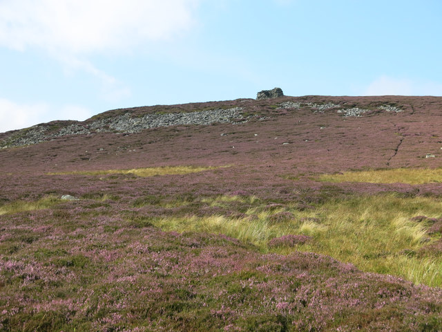 Moorland and rock outcrops below Clevison Currick